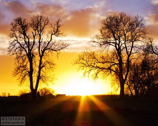 Solnedgång vid St Lars