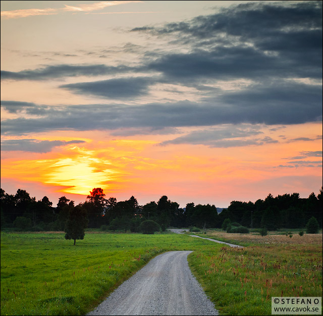 Sommarkväll vid Silvåkra