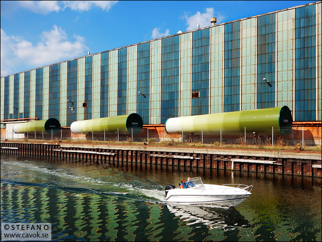 Kockums ubåtshall i Malmö