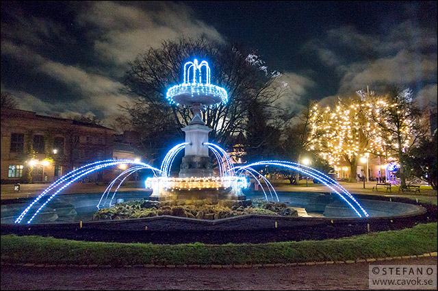 Ljus i fontänen