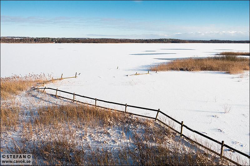 Krankesjön is och snö