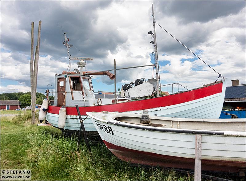 Båtar på land