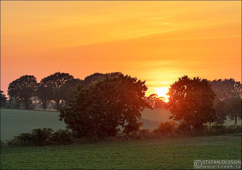 Solnedgång vid Räften