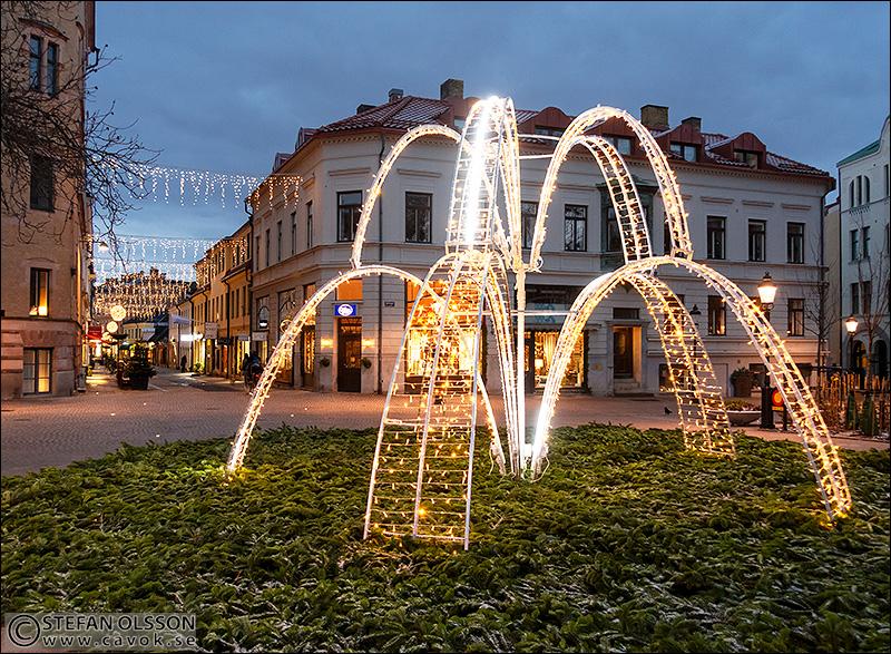 Julljus på Bantorget i Lund