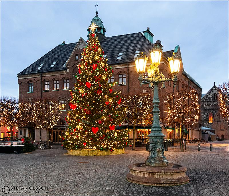 Jul på Stortorget i Lund