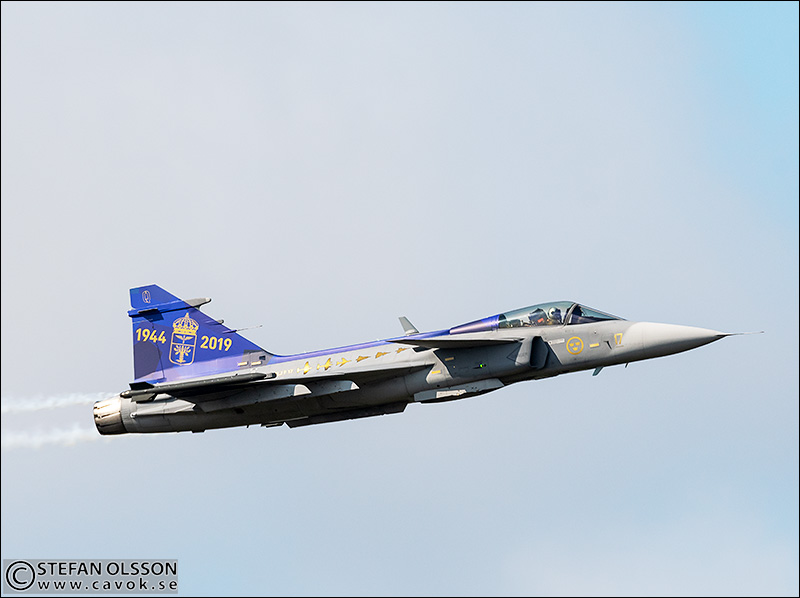Specialmålad J39 Gripen F17 Kallinge