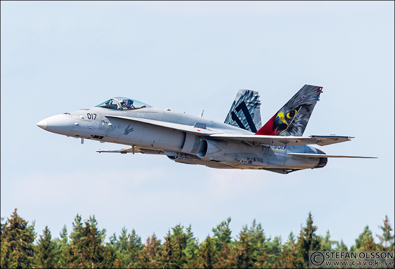 Swiss airforce F/A-18 Hornet at F17 Kallinge