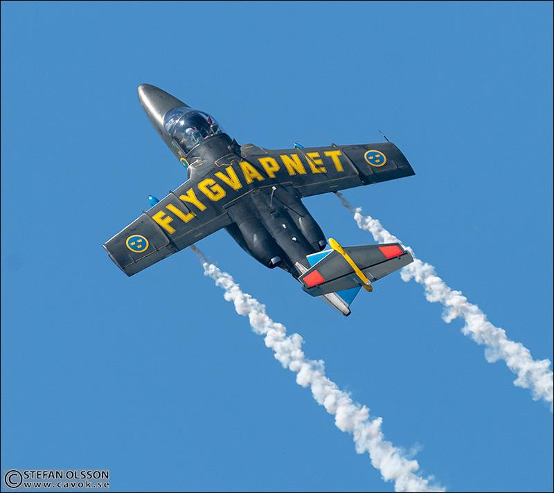SK 60 solo uppvisning på F17 Blekinge flygflottilj