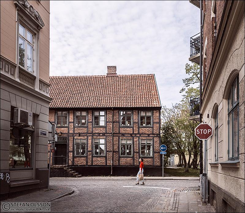 Ekska huset längs Sankt Petri Kyrkogata i Lund