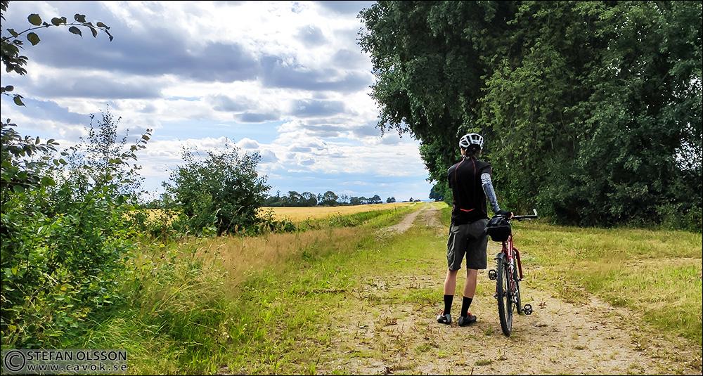 Cykeläventyr på grusvägarna runt Vombsjön