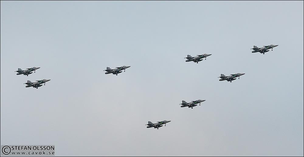 Flygvapnets julhälsning över Lund