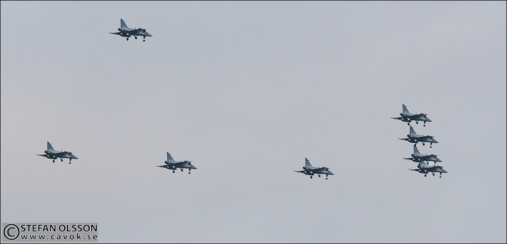 JAS 39 Gripen över Lund