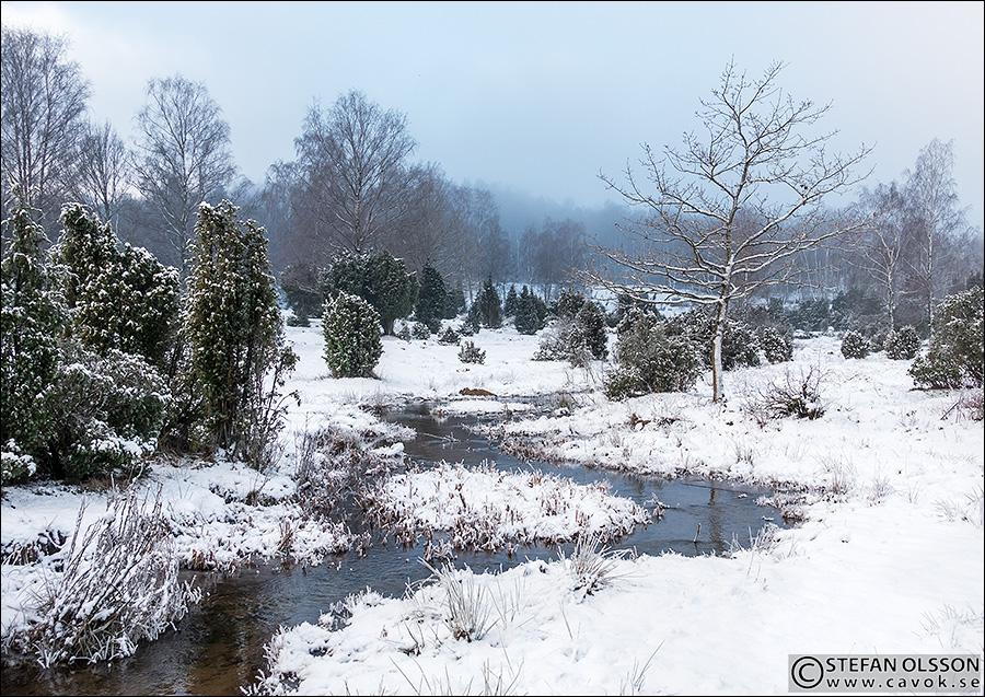 Snö på Måryds enefälad