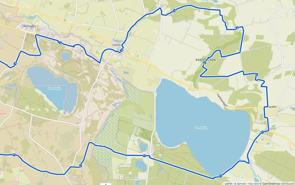Cykelrutt Hjularöd - Borstbäcken - Öved